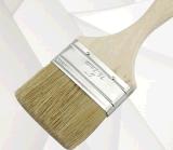 Щетка картины щетинки деревянной ручки чисто