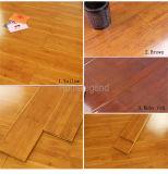 Suelo de bambú sólido Carbonizado Laca UV horizontal Liso