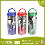 18/0 Travel Plastic Handle Conjunto de talheres de aço inoxidável