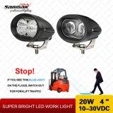 """indicatore luminoso del lavoro del carrello elevatore LED di alto potere 4 """" 20W con illuminazione blu"""