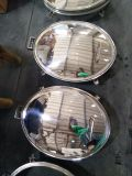 衛生圧力楕円形のManwayの磨かれたSS304シリコーン