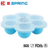 Boîte de rangement pour aliments en silicone portable Sécurité Boîte à congélateur à fruits en treillis à fleurs pour bébés