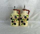 Bottiglie di ceramica dipinte a mano dell'all'aceto & del petrolio