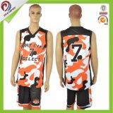 Diseño determinado de la insignia de Cutom del poliester de las personas del uniforme libre del baloncesto