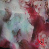 Flor Digital Print Tecido Chiffon de seda para roupa/vestir
