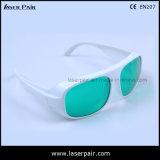 Alta calidad para el rojo y laser del diodo 808nm que blinda las gafas (IDT 630-660nm y 800-830nm) con el marco blanco 52