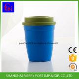 Blauer Farbe Verschütten-Beweis populäres trinkendes Plastikcup mit Kappe
