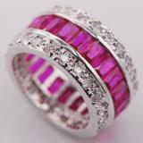 색깔 수정같은 지르콘 925 순은 보석 도매 소매 반지