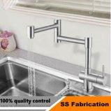 Singolo rubinetto del dispersore di cucina del foro maniglia commerciale dell'acciaio inossidabile della singola