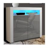 Pure White modernas televisões Pack Madeira armário de cozinha
