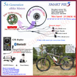 ¡Bluetooth! rueda eléctrica del motor del eje de la bicicleta del motor de oro de 48V 1000W