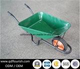 Carrello di giardino di gomma solido della carriola della riga della barra di rotella Wb3800 Wb3800