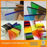 O espaço livre & a cor moldaram a folha acrílica do plexiglás plástico acrílico da placa PMMA para sinais da letra