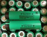 Hohe Abfluss-Batterie NCR18650A/NCR 18650 eine 3100mAh nachladbare Batterie der Batterie-18650 mit flacher Oberseite