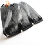Ponytail brasileiro reto de seda do cabelo humano de cores escuras