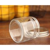 100% No-Lead Mason Copo de vidro de 200 ml com tampa de metal
