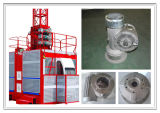 Caixas da redução da engrenagem do alumínio de molde Tcw125 da gravidade para a grua de levantamento do motor do elevador da construção