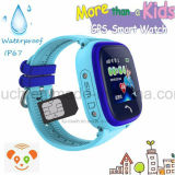Resistente al agua el niño/niños reloj GPS Tracker portátil con pantalla táctil D25