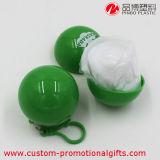 Nützliches Adult Plastic Disposable Transparent Raincoat mit Keychain