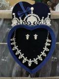 Brauthochzeits-Zubehör-Kronen-Ohrring-Halskette