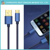 Нейлоновые экранирующая оплетка данных зарядки через USB 3.1 типа C кабель для Android и iPhone