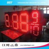 빨간색 옥외 방수 LED 유가 변경자 표시