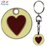 Kundenspezifische rote Inner-Muster-Zink-Legierung Keychain für Verkauf