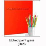 4mm 서리로 덥은 그려진 유리 백색 까맣고 또는 빨강 서리로 덥은 그려진