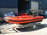 Aqualand 18FTの半硬式の膨脹可能な軍隊レスキューするかHypalonのゴム製モーターボート(530)は
