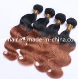2つの調子の実質の毛1b/30のバージンの毛のインドの人間の毛髪の束