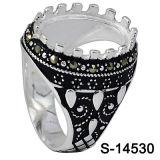 Fabriek Hotsale 925 de Zilveren Ring van de Mensen van Rieken zonder de Steen van het Centrum