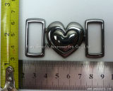 Fashion Design Casting Heart Shape Metal Alloy Garment Belt Buckle
