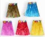 Hawaiian Хуле трава юбка с гирляндами цветов, купальный костюм, эластичные Луау травы День Рождения тропических купальный костюм, событий, отмечать сторона выступает за оформление одежды