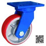 6 Inch Extra Schwer-Aufgabe PU auf Iron Swivel Caster