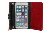 Señora Wallet Phone Case para el iPhone 7plus con el encadenamiento del metal