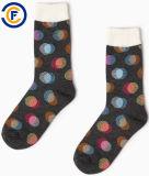 Calzini personalizzati di modo di Elastane del poliestere del cotone degli uomini