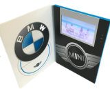 Дюйм LCD брошюры 5 пользы подарка дела видео-/экран TFT поздравительная открытка 128MB видео- с 3 кнопками