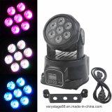 Mini luces principales móviles del efecto de la colada de 7*12W RGBWA LED