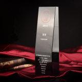 Métier noir neuf de trophée de verre cristal pour le souvenir