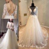 El cordón de 2018 señoras de la manera que iguala la alineada nupcial del vestido de boda viste Ksm66003