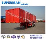 半40FTの三車軸側面ボックス貨物トラックのトレーラー