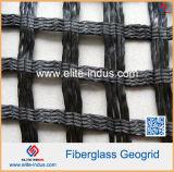 Дорожное строительство материал из стекловолокна Biaxial Geogrid для базового усилителя