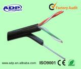 Напольная куртка PVC+PE двойника кабеля Cat5e