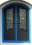 Commerce de gros de la sécurité de la porte avant en acier Belle Double porte en fer
