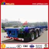 40 Ton trailer do esqueleto do chassi do recipiente de transporte de contentores