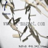 CK-245 de Rang &Phi van de Magneet NdFeB; 0.3*2.54mm