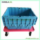Fixe a tampa de plástico empilháveis segurança compartimentos móveis para venda