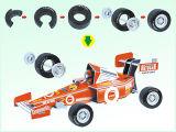 Kids Intelligent 3D Puzzle Toys DIY Friction Formula Car (H4551131)