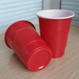 Bereifte Wegwerf16oz 450ml pp. rote Partei-Plastikcup Oberflächen-des direkten Fabrik-Großverkauf-