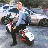 Scooter électrique amical d'Ecorider Eco avec les grandes roues, motos électriques à vendre
